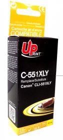 UPRINT - UPrint CLI-551XL Jaune (11 ml) Cartouche remanufacturée Canon Qualité Premium