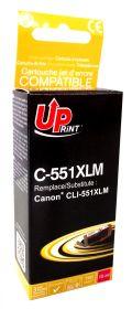 PREMIUM - UPrint CLI-551XL Magenta (11 ml) Cartouche remanufacturée Canon Qualité Premium (puce intégrée)