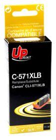 PREMIUM - UPrint CLI-571XL Noir (11 ml) Cartouche remanufacturée   Canon Qualité Premium  (puce intégrée)