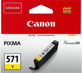 CANON ORIGINAL - Canon CLI-571 Jaune (7 ml) Cartouche de marque 0388C001