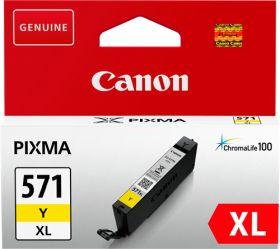 CANON ORIGINAL - Canon CLI-571XL Jaune (11 ml) Cartouche de marque 0334C001
