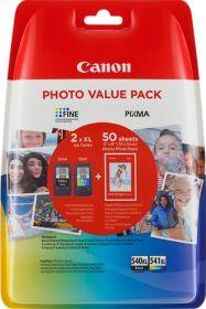 CANON ORIGINAL - CANON PG-540XL / CL-541XL Noir et couleur Pack x2 cartouches (21 ml + 15 ml) 5222B013