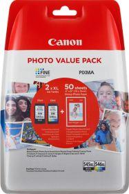 CANON ORIGINAL - CANON PG-545XL/ CL-546XL Noir et couleur Pack x2 cartouches (15 ml + 13 ml) 8286B006