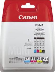 CANON ORIGINAL - Canon CLI-571 - Pack de 4 cartouches originales 0386C005