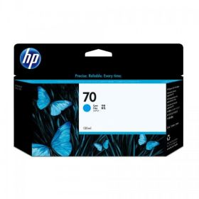 HP ORIGINAL - HP 70 / C9452A Cyan (130 ml) Cartouche de marque