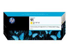 HP ORIGINAL - HP 91 / C9469A Jaune (775 ml) Cartouche de marque