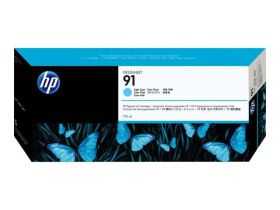 HP ORIGINAL - HP 91 / C9470A Cyan clair (775 ml) Cartouche de marque