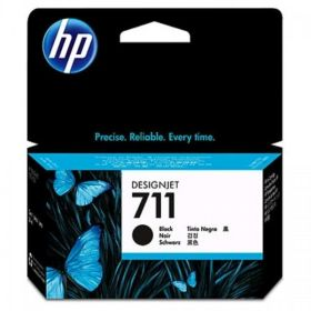 HP ORIGINAL - HP 711 / CZ129A Noir (38 ml) Cartouche de marque