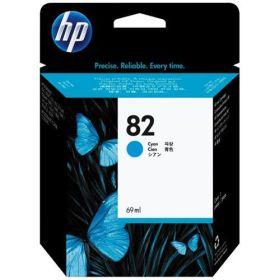 HP ORIGINAL - HP 82 / C4911A Cyan (69 ml) Cartouche de marque