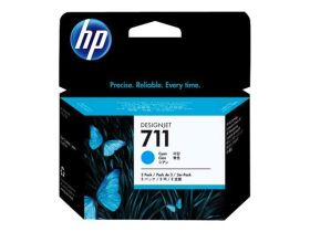 HP ORIGINAL - HP 711 / CZ134A (3 x 29 ml) Cyan - Multipack 3 cartouches de marque