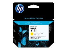 HP ORIGINAL - HP 711 / CZ136A (3 x 29 ml) Jaune - Multipack 3 cartouches de marque