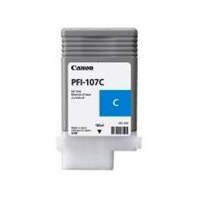 CANON ORIGINAL - Canon PFI-107 Cyan (130 ml) Cartouche de marque