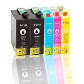 COMPATIBLE EPSON - PROMO Pack de 4 cartouches génériques T1301/ T1302/ T1303/ T1304 + 1 cartouche noire offerte