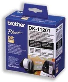 BROTHER ORIGINAL - Brother DK-11201 Etiquettes d'adresse standard 29 x 90 mm, impression noir sur papier blanc