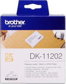 BROTHER ORIGINAL - Brother DK-11202 Etiquettes d'expédition 62 x 100 mm, impression noir sur papier blanc