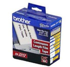 BROTHER ORIGINAL - Brother DK-22212 Ruban film résistant 62 mm x 15,24 m, impression noir sur ruban blanc