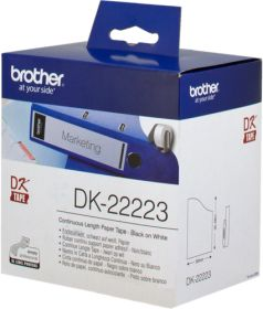 BROTHER ORIGINAL - Brother DK-22223 Ruban continu résistant 50 mm x 30 m, impression noir sur papier blanc