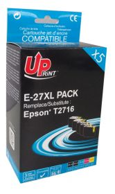 UPRINT/ QUALITE PREMIUM - UPrint 27XL Pack 5 cartouches compatibles Epson Qualité Premium