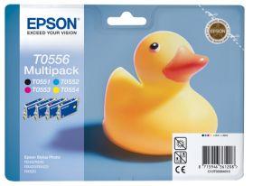 EPSON ORIGINAL - Epson T0556 Pack Eco de 4 cartouches (Noir, Cyan, Magenta, Jaune)