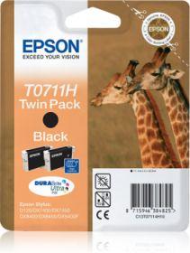 EPSON ORIGINAL - Epson T0711H Noir (22 ml) Twin Pack de 2 Cartouches de marque