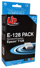 UPRINT/ QUALITE PREMIUM - UPrint T1285 Pack x 5 cartouches remanufacturées Epson Qualité Premium comprenant 2x T1281 / 1x T1282 / 1x T1283 / 1x T1284