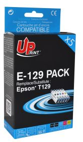 UPRINT/ QUALITE PREMIUM - Uprint T1295 Pack de 5 cartouches remanufacturées Epson Qualité Premium comprenant 2x T1291/ 1x T1292 / 1x T1293 / 1x T1294