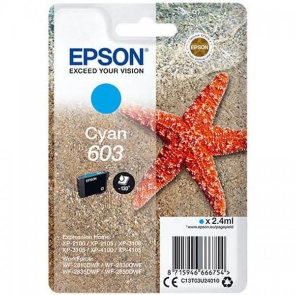EPSON ORIGINAL - Epson 603 Cyan (2,4 ml) Cartouche de marque T03U24010