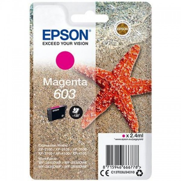 EPSON ORIGINAL - Epson 603 Magenta (2,4 ml) Cartouche de marque T03U34010