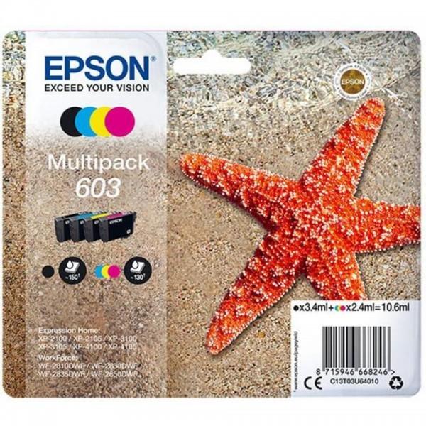 EPSON ORIGINAL - Epson 603 (10,6 ml) Multipack de 4 cartouches de marque Noir, Cyan, Magenta, Jaune