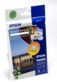 EPSON ORIGINAL - Papier photo premium semi glacé 10x15 cm 251g/m²- 50 feuilles