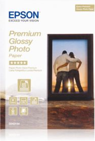 EPSON ORIGINAL - Papier photo premium glacé 13x18 cm 255g/m²- 30 feuilles