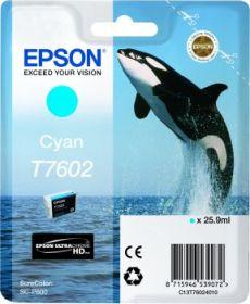 EPSON ORIGINAL - Epson T7602 Cyan Cartouche de marque Série 76