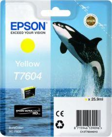 EPSON ORIGINAL - Epson T7604 Jaune Cartouche de marque Série 76