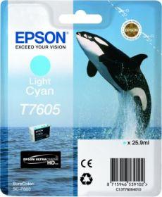 EPSON ORIGINAL - Epson T7605 Cyan clair Cartouche de marque Série 76