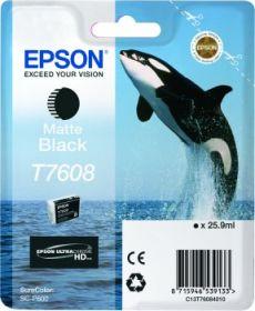 EPSON ORIGINAL - Epson T7608 Noir mat Cartouche de marque Série 76