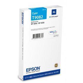 EPSON ORIGINAL - Epson T9082 Cyan (4000 pages) Cartouche de marque  pour WF-6090/ 6590