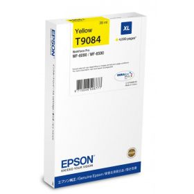 EPSON ORIGINAL - Epson T9084 Jaune (4000 pages) Cartouche de marque pour WF-6090/ 6590