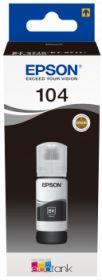 EPSON ORIGINAL - EPSON 104 Noir Bouteille recharge d'encre de marque EPSON Ecotank (65ml)