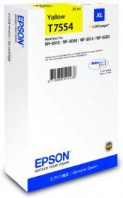 EPSON ORIGINAL - Epson T7554 Jaune (39ml) Cartouche de marque