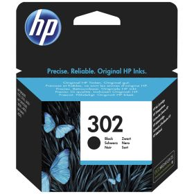 HP ORIGINAL - HP 302 / F6U66AE Noir (3,5 ml) cartouche de marque