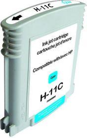 RECYCLE HP - 11 / C4836A Cyan (28 ml) Cartouche remanufacturée avec puce