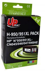 PREMIUM - UPrint 950XL / 951XL Lot de 4 cartouches remanufacturées HP Qualité Premium