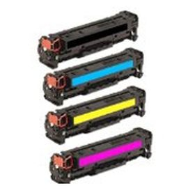 COMPATIBLE HP - 131X / 131A (Noir, Cyan, Magenta, Jaune) Lot de 4 Toners remanufacturés avec puces