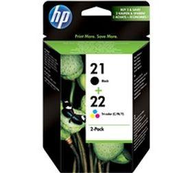 HP ORIGINAL - HP 21 / HP 22 / SD367AE Noir + Couleurs Pack de 2 cartouches de marque