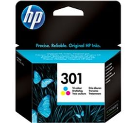 HP ORIGINAL - HP 301 / CH562EE Couleurs (3 ml) Cartouche de marque