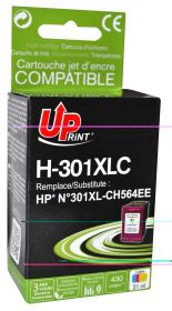 UPRINT - UPrint 301XL Couleurs (21ml) Cartouche remanufacturée HP Qualité Premium