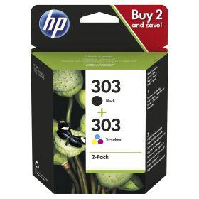 HP ORIGINAL - PROMO HP 303 / 3YM92AE Pack de 2 cartouches authentiques d'encre noire/trois couleurs