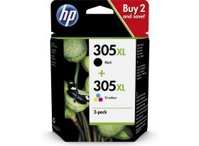 HP ORIGINAL - HP 305XL lot de 2 cartouches grande capacité de marque noir et couleur