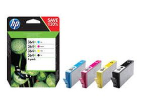 HP ORIGINAL - HP 364XL / N9J74AE Pack de 4 cartouches de marque (Noir, Cyan, Magenta, Jaune)