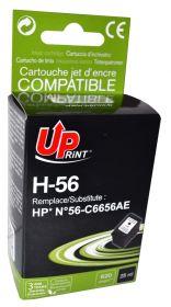 UPRINT - UPrint 56 Noir (25 ml) Cartouche remanufacturée HP Qualité Premium